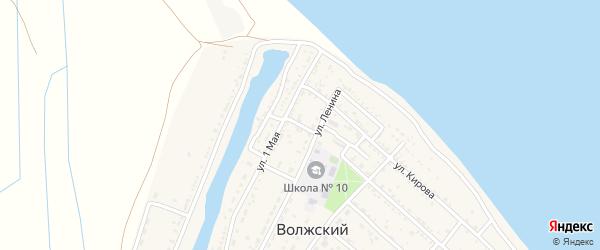 Переулок Ленина на карте Волжского поселка Астраханской области с номерами домов