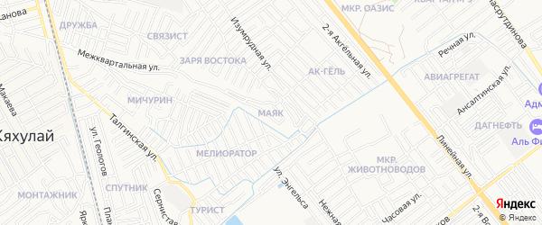 Квартал Маяк на карте Махачкалы с номерами домов