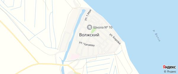 Карта Волжского поселка в Астраханской области с улицами и номерами домов