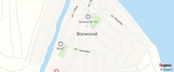 Речная улица на карте Волжского поселка Астраханской области с номерами домов