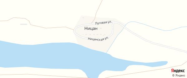 Ницанская улица на карте поселка Ницана Астраханской области с номерами домов