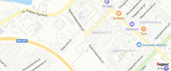 Красноярская улица на карте Махачкалы с номерами домов