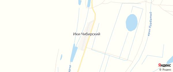 Карта Ики-Чибирский поселка в Астраханской области с улицами и номерами домов