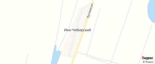 Луговая улица на карте Ики-Чибирский поселка Астраханской области с номерами домов