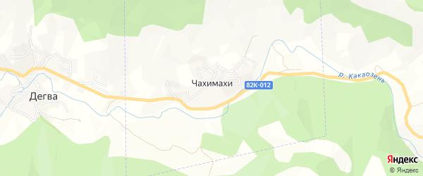 Карта села Чахимахи в Дагестане с улицами и номерами домов