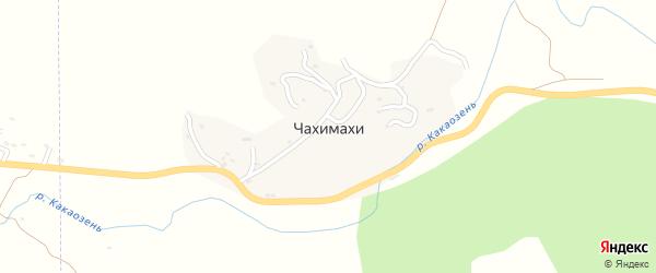 Улица Кадилабагандова Камакладина Кадилабаганд на карте села Чахимахи Дагестана с номерами домов