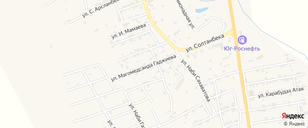 Улица Магомедсаида Гаджиева на карте микрорайона Къонгураул с номерами домов