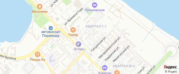 Гапцахский 2-й тупик на карте квартала Г-1 с номерами домов