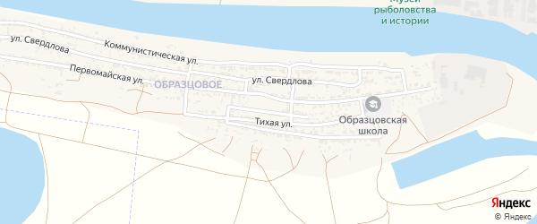 Школьная улица на карте села Оранжереи Астраханской области с номерами домов