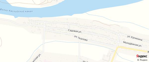 Садовая улица на карте села Оранжереи Астраханской области с номерами домов