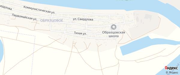 Степная улица на карте села Оранжереи Астраханской области с номерами домов