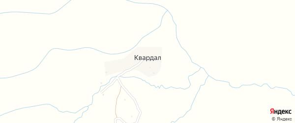 Центральная улица на карте села Квардала Дагестана с номерами домов