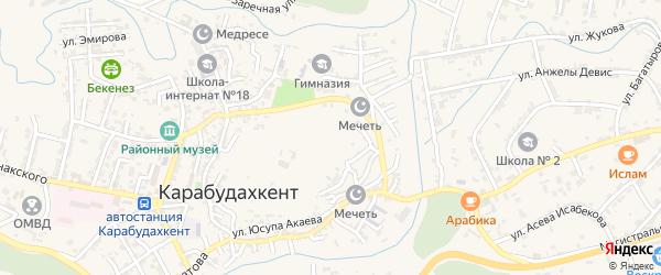 Улица Димитрова на карте села Карабудахкента Дагестана с номерами домов