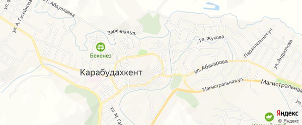 Зона Герей-тюз на карте села Карабудахкента Дагестана с номерами домов