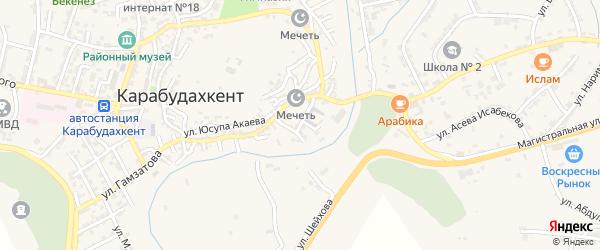 Парковая улица на карте села Карабудахкента с номерами домов
