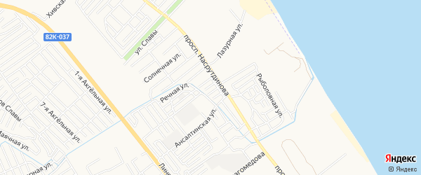 Квартал Авар-аул на карте Махачкалы с номерами домов
