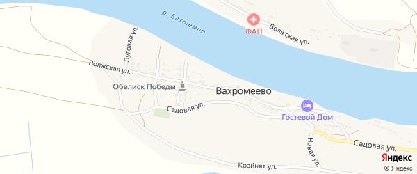 Волжская улица на карте села Вахромеево Астраханской области с номерами домов