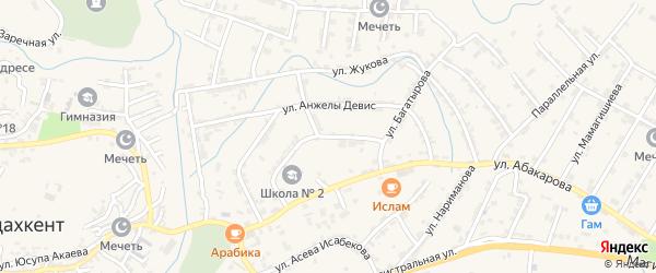 Улица Жуковского на карте села Карабудахкента Дагестана с номерами домов