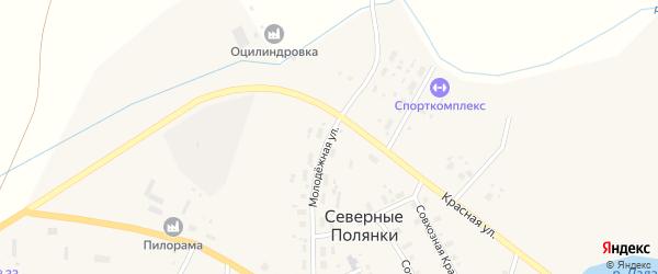 Молодежная улица на карте поселка Северные Полянки Кировской области с номерами домов