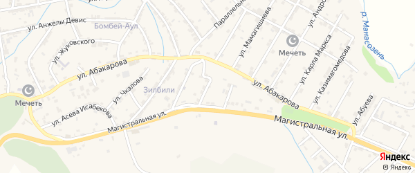 Улица Лещинского на карте села Карабудахкента Дагестана с номерами домов
