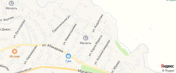 Улица Буденного на карте села Карабудахкента Дагестана с номерами домов