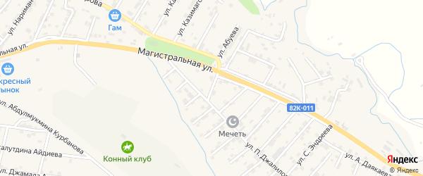 Улица А-муслима Салахбекова на карте села Карабудахкента Дагестана с номерами домов
