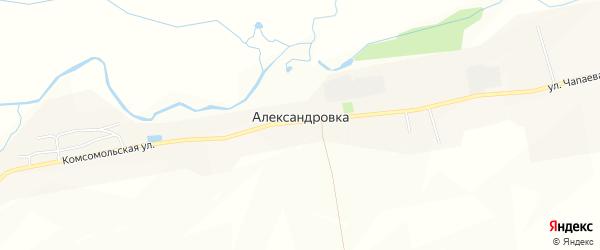 Карта деревни Александровки в Чувашии с улицами и номерами домов