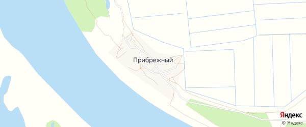 Карта Прибрежного поселка в Астраханской области с улицами и номерами домов