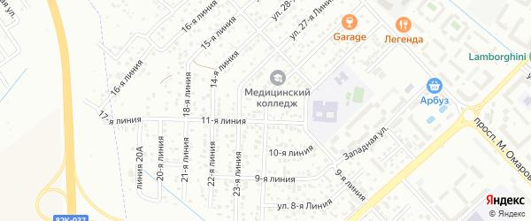 12-я линия на карте Каспийска с номерами домов