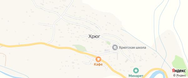 Улица Сефибега Мукаилова на карте села Хрюга с номерами домов