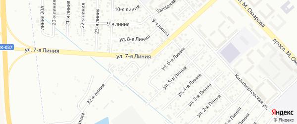 7-я линия на карте Авангарда 1 СНТ с номерами домов