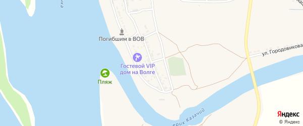 Улица Гагарина на карте Заволжского села Астраханской области с номерами домов