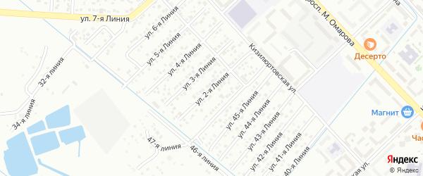 Улица Каспий СНТ Линия 2 на карте Каспийска с номерами домов