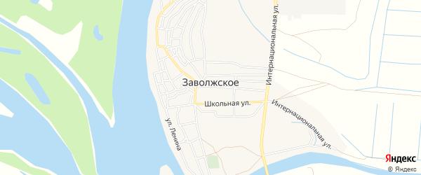 Карта Заволжского села в Астраханской области с улицами и номерами домов