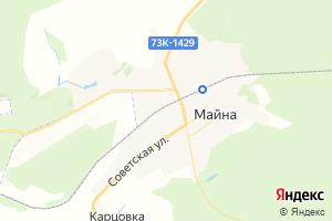 Карта пгт Майна Ульяновская область