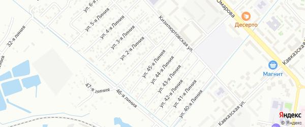 45-я линия на карте микрорайона Кемпинга с номерами домов