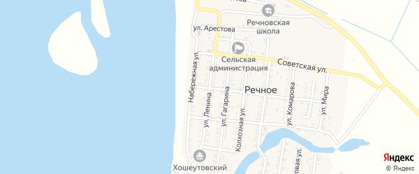 Улица Ленина на карте Речного села Астраханской области с номерами домов