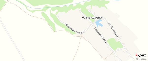 Хыркасинская улица на карте деревни Алмандаево с номерами домов