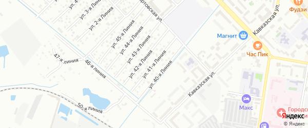 41-я линия на карте микрорайона Кемпинга с номерами домов