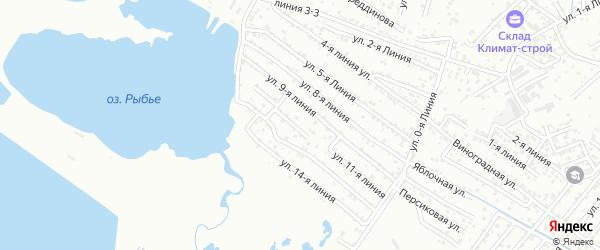 Улица Линия 11 на карте микрорайона Камнеобрабат-щий з-д и Очистные сооруж-я с номерами домов