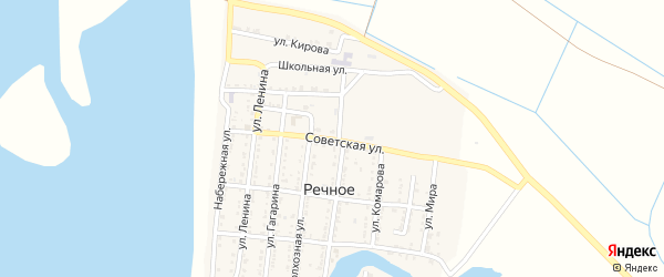 Советская улица на карте Речного села с номерами домов