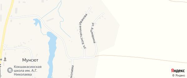 Улица Ашмарина на карте деревни Мунсюта с номерами домов