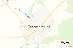 Карта пгт Старая Кулатка Ульяновская область