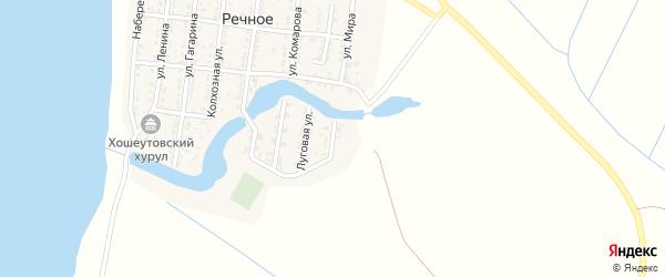 Новая улица на карте Речного села Астраханской области с номерами домов