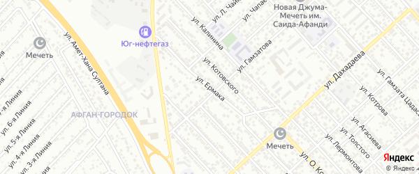 Улица Ермака на карте Каспийска с номерами домов