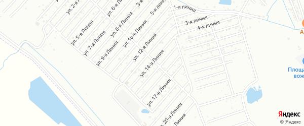 Улица Каспий СНТ Линия 14 на карте Каспийска с номерами домов