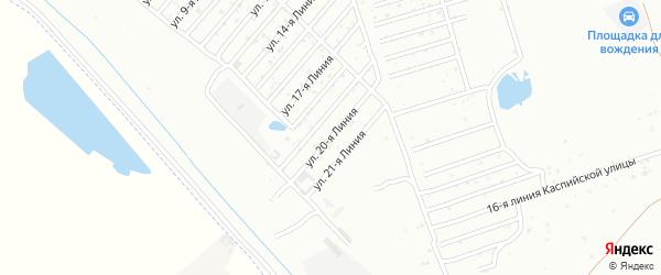 20-я линия на карте Азимута СНТ с номерами домов