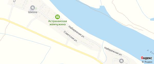 Набережная улица на карте села Ниновки Астраханской области с номерами домов
