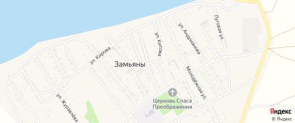 Улица Борисова на карте села Замьяны Астраханской области с номерами домов