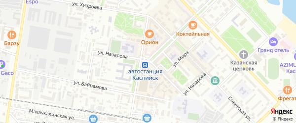 Улица Назарова на карте Каспийска с номерами домов